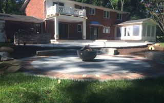 Bluestone Patio with Custom Firepit