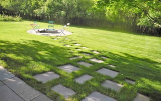 Bluestone Backyard Path to Firepit