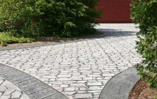 Stamped Concrete Driveway Circle