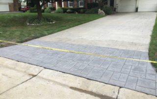 Stamped Concrete Driveway Repair