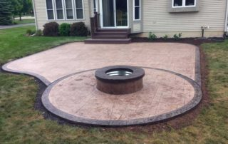 Stamped Concrete Patio & Fire Pit