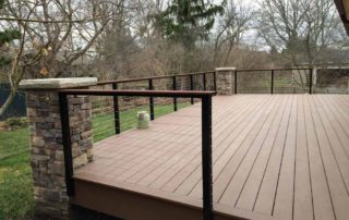 Azek Morado Deck with Cable Railing & Ipe Wood Rail Cap
