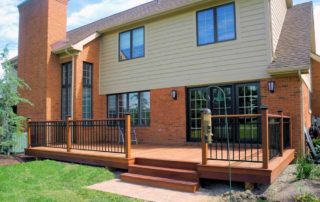 Ipe Deck with Railing & Aluminum Spindles