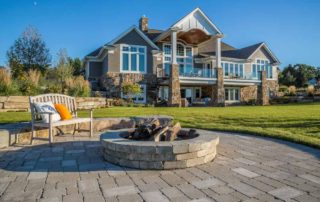 Terrafirma Lakefront Patio, Fire Pit & Landscaping