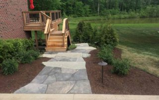 Flagstone Walkway with Ledgerock Steps