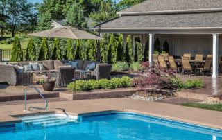Poolside Landscaping and Patio