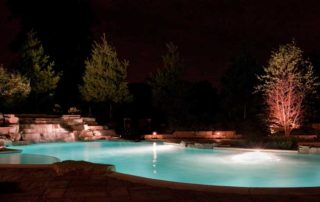Pool with Landscape Lighting