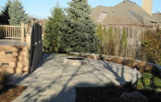 Azek Decking, Unilock Paving & Firepit