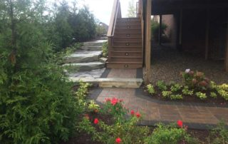Ledgerock Steps with Unilock Paver Walk