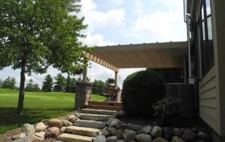 Ledgerock Steps with Fieldstone Retainer Wall